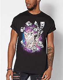 Galaxy Money Cat T Shirt