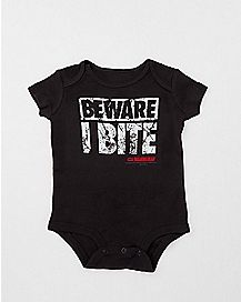 Beware I Bite Baby Bodysuit - The Walking Dead