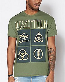 Four Symbols Led Zeppelin T Shirt