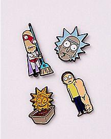Enamel Rickmas Rick and Morty Pins - 4 Pack