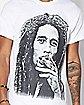 Airbrush Smoke Bob Marley T Shirt