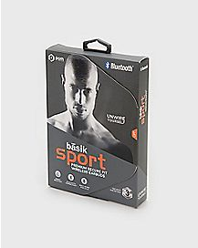 Black Basik Sport Bluetooth Wireless Earbuds - POM Gear