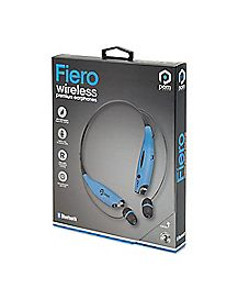 Blue Fiero Bluetooth Wireless Neckband Earbuds - POM Gear