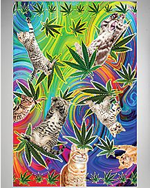 Pot Leaf Cat Poster