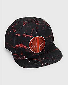 Marble Deadpool Snapback Hat - Marvel
