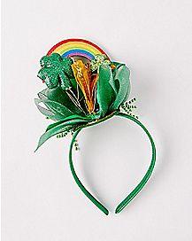 Rainbow and Shamrock Headband