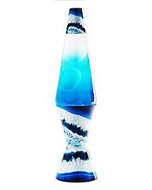Blue and White Lava Lamp - 17 Inch