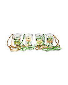 Saint Patrick's Day Shot Glass Necklaces - 4 Pack