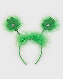 Fuzzy Shamrock Headband