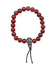Red Power Beaded Bracelet