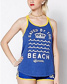 Saved By The Beach Corona Tank Top