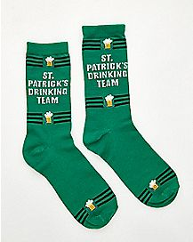 St. Patrick's Day Drinking Team Crew Socks