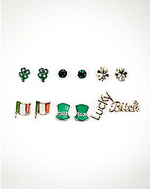 Multi-Pack Saint Patrick's Day Stud Earrings - 6 Pair