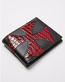 Red Iron Cross Bifold Wallet