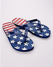 Distressed Americana Flip Flops