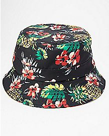 Floral Pineapple Bucket Hat