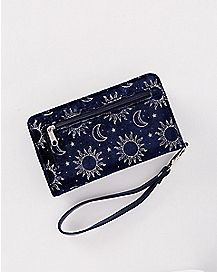 Sun and Moon Smartphone Charging Wallet