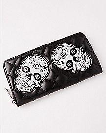 Skull Zip Wallet