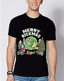 Merry Rickmas T Shirt - Rick and Morty