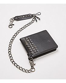 Black Stud Chain Wallet