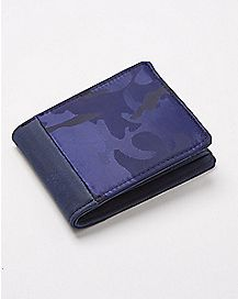 Blue Camo Bifold Wallet