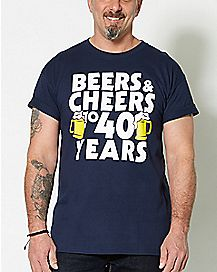 Beers and Cheers to 40 Years T Shirt