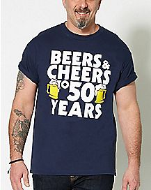 Beers and Cheers to 50 Years T Shirt