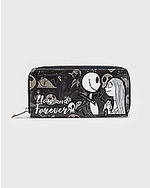 Now and Forever Jack and Sally Zip Wallet - The Nightmare Before Christmas