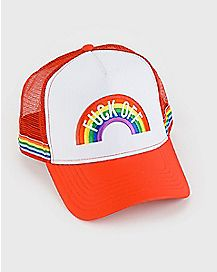 Fuck Off Rainbow Trucker Hat