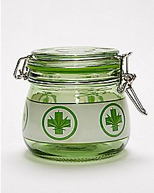 Cross Pot Leaf Storage Jar - 16 oz.