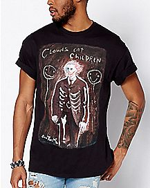 Antique Horror Clowns Eat Children T Shirt - Gus Fink