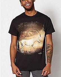 Skelehorse T Shirt - Antique Horror