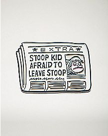 Newspaper Stoop Kid Pin - Hey Arnold