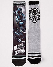Black Panther Crew Socks 2 Pack - Marvel