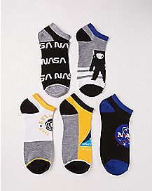 NASA No Show Socks - 5 Pair