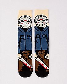 Jason Voorhees Crew Socks - Friday The 13th