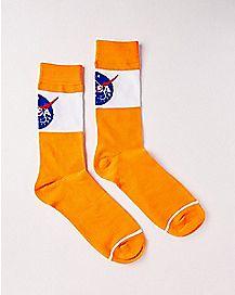 Orange NASA Crew Socks