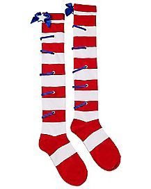 Striped Americana Over The Knee Socks