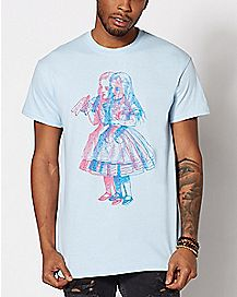 Sketch Alice In Wonderland T Shirt