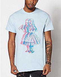 Sketch Alice In Wonderland T Shirt