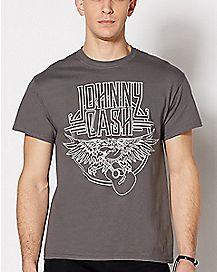 Eagle Guitar Johnny Cash T Shirt