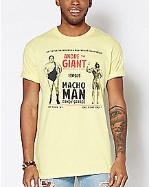 Andre The Giant Vs. Macho Man Randy Savage T Shirt - WWE