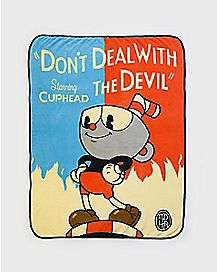 Don't Deal With The Devil Cuphead Fleece Blanket
