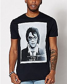 Mug Shot Elvis Presley T Shirt