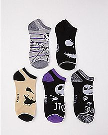 Jack Skellington Ankle Socks 5 Pair - The Nightmare Before Christmas