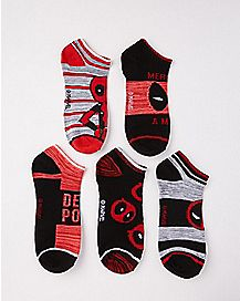 Deadpool Ankle Socks 5 Pair - Marvel