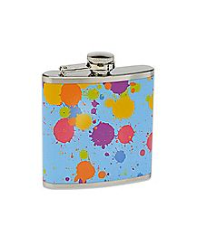 Paint Splatter Flask - 6 oz.
