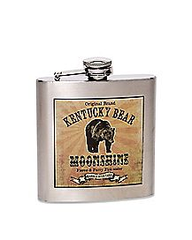 Kentucky Bear Moonshine Flask - 6 oz.