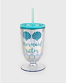 Mermaid Water Cup With Straw - 12 oz.