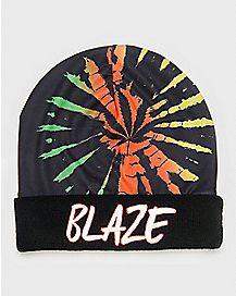 Rasta Tie Dye Blaze Beanie Hat